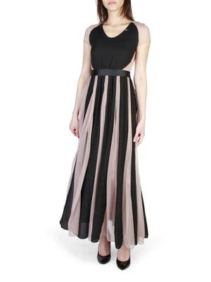 Платье черно-розовое | 4190675