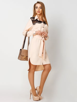 Платье бежевое | 4192857
