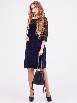 Платье темно-синее | 4192862