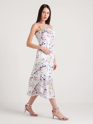 Платье молочного цвета в цветочный принт | 4194682