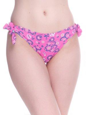 Труси рожеві в квітковий принт купальні | 4180525