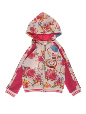 Куртка рожева з принтом | 4191669