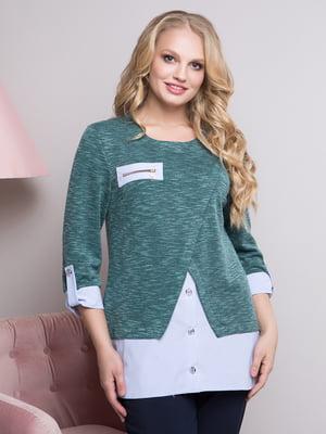Блуза пляшкового кольору | 4195926