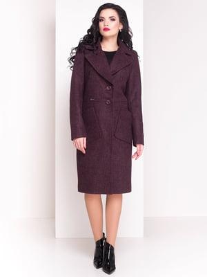 Пальто цвета марсала | 3963541