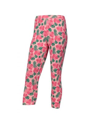 Леггинсы розовые в цветочный принт | 4136464
