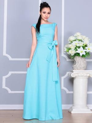 Платье светло-бирюзовое | 4201150
