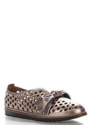 Туфлі кольору нікелю | 4185625