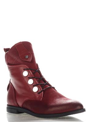 Ботинки бордовые | 4185608