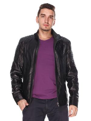 Куртка чорно-зелена | 4203734