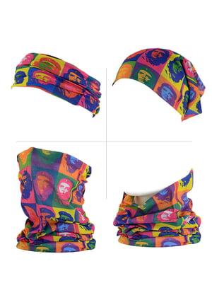 Шарф-снуд-повязка разноцветный | 4208796