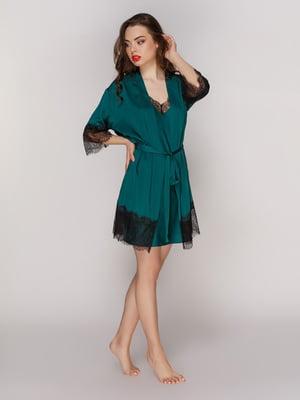 Халат смарагдового кольору | 4201190