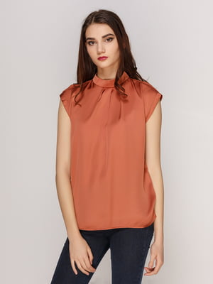 Блуза світло-коричнева | 4208699