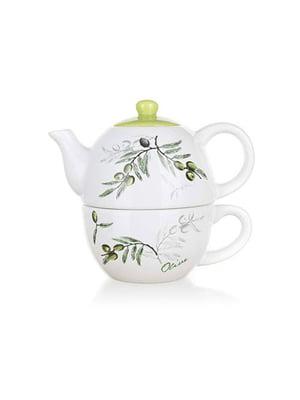Чайник з чашкою Olives | 4212093