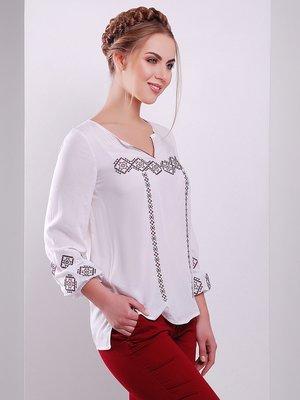 Блуза белая с вышивкой | 4212585