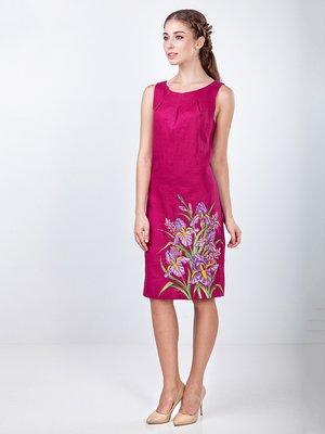 Сукня кольору фуксії з вишивкою | 4212593