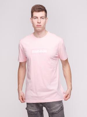 Футболка розовая с принтом | 4208732