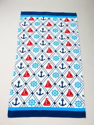 Полотенце пляжное велюровое (75х150 см) | 4209612