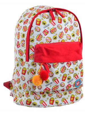 Рюкзак в різнобарвний принт | 4214863