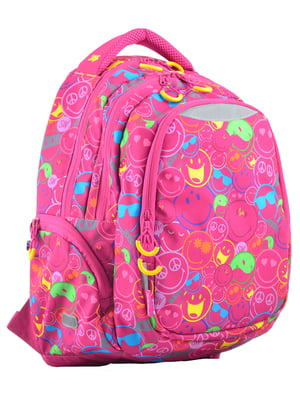 Рюкзак розовый в принт | 4214930