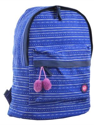 Рюкзак синій в смужку | 4214940