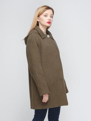 Пальто цвета хаки | 4084780