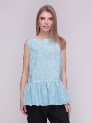 Блуза мятного цвета в клетку | 4210247