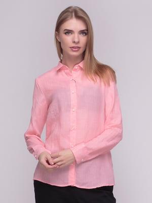 Рубашка светло-розовая | 4210290