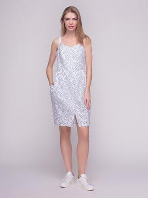 Платье белое в принт | 4210265