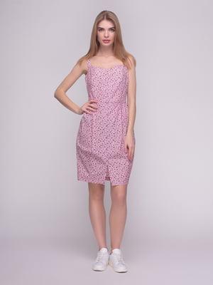 Платье розовое в принт | 4210266