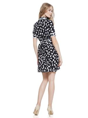 Сукня чорно-біла в горох | 2950089