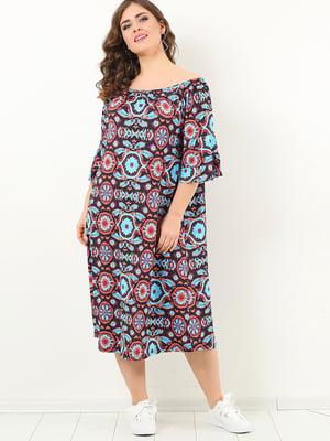 Платье в разноцветный принт | 4213286