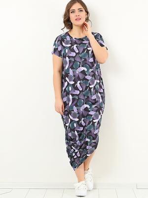 Платье фиолетовое в принт | 4213293