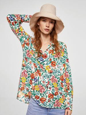 Блуза в цветочный принт | 4087288