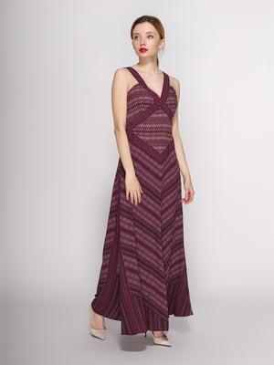 Сукня бордова з візерунком | 4144084