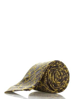 Галстук желтый в принт | 3461904