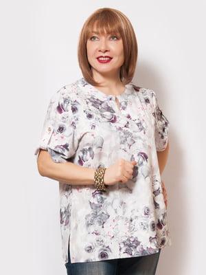 Блуза в квітковий принт | 4220196