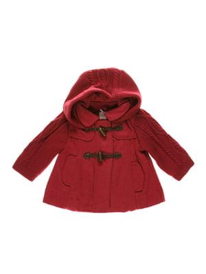 Пальто бордовое | 3835691