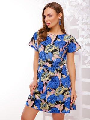 Сукня синя у принт | 4221712