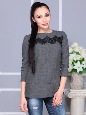 Блуза графитового цвета | 4222504