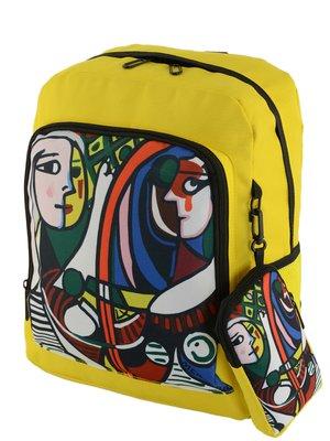 Рюкзак желтый в принт   4226510