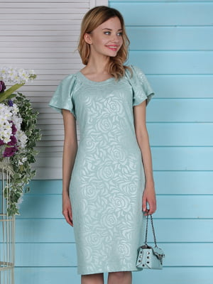 Платье бирюзовое | 4229535
