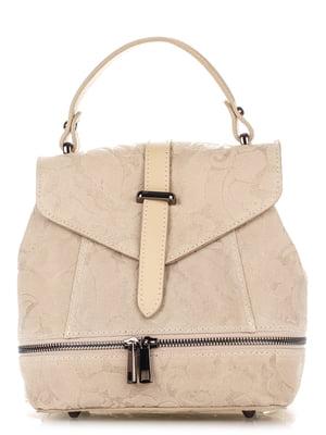 Рюкзак світло-бежевий з малюнком   4222673