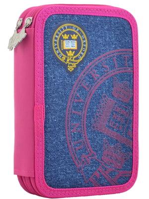 Пенал рожево-синій | 4235552