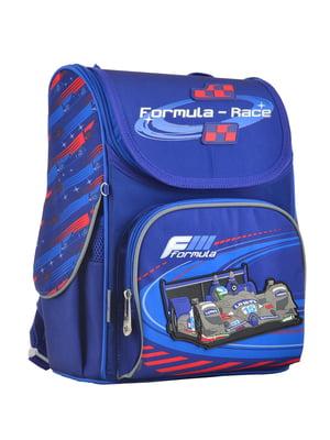 Рюкзак синій з принтом | 4235629