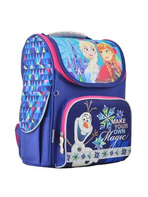 Рюкзак синій з принтом | 4235634