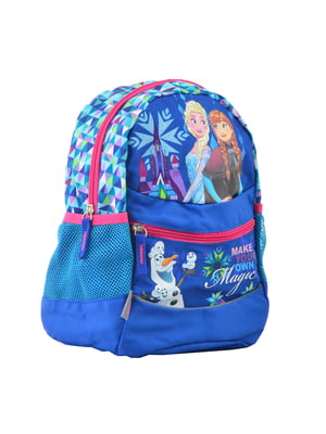 Рюкзак блакитний в принт | 4235672
