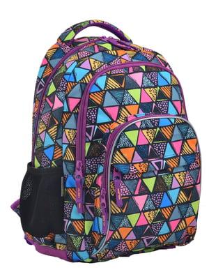 Рюкзак фіолетовий в принт | 4235693