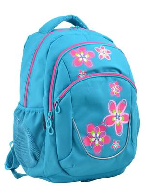 Рюкзак блакитний з принтом | 4235709