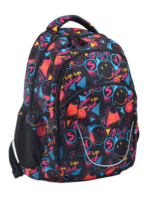 Рюкзак чорний в принт | 4235710