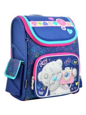 Рюкзак синій з принтом | 4235752
